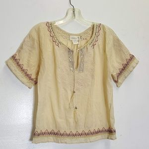 Bellekat Cotton peasant top XS